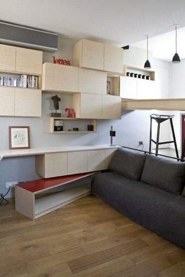 130 Square Foot Micro Apartment in Paris