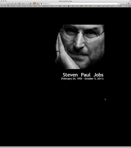 Steve Jobs Blog Closing Tribute Screenshot