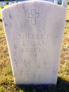 Uncle Shelley Steger's Tombstone