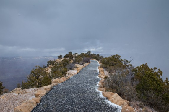Snowing in the Grand Canyon