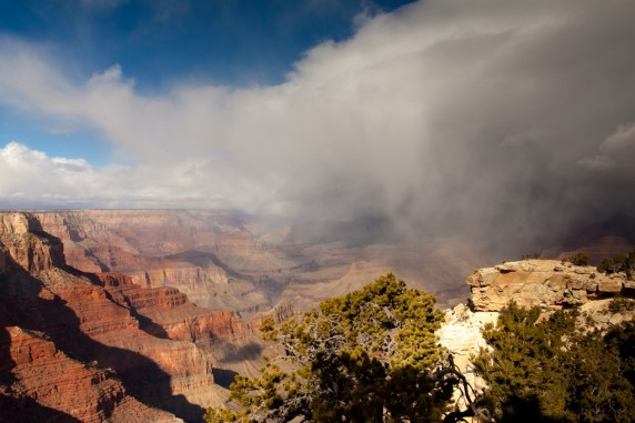 Snow bow in the Grand Canyon