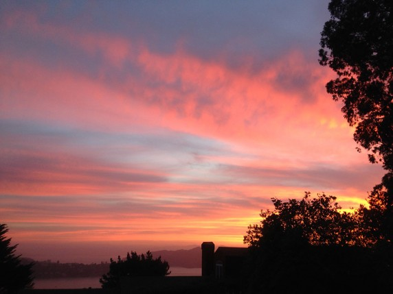 Un-retouched iPhone Shot of  Sausalito Sunrise