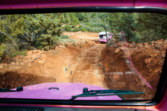 Pink Jeep Off Road Tour (going down)