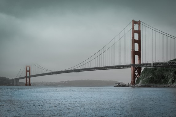 Golden Gate in the Fog - Watercolor