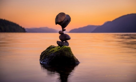 Magic Stones in Balance-6 by Michael Grab