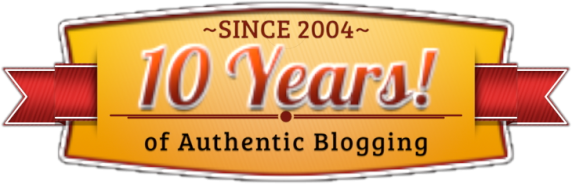 10 Years Blogging Badge